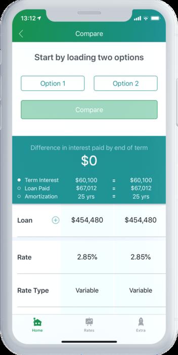 CMA Mortgage Compare Side By Side Calculator